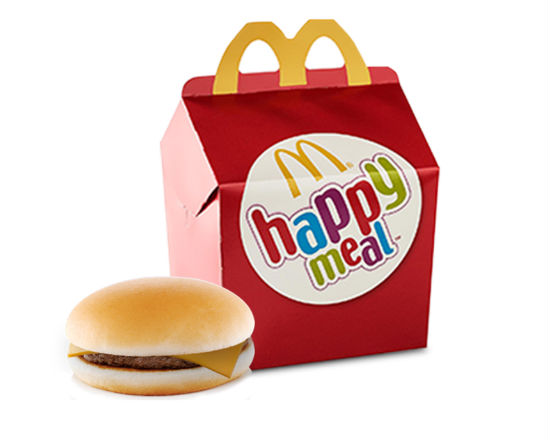 Happy Meal® Cheeseburguer Natura